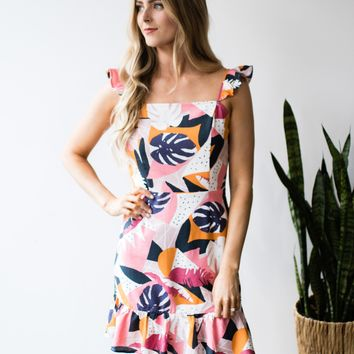 Pretty Palms Mini Dress