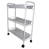 Room Essentials™ 3-Tier Rolling Mesh Basket Utility Cart - White