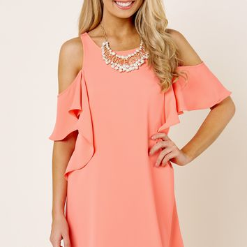 Everly This Modern Love Coral Orange Dress