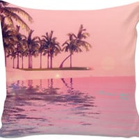 Pink Beach Pillow