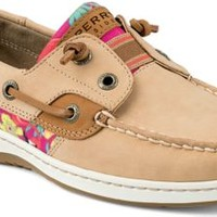 Sperry Top-Sider Rainbowfish Slip-On Boat Shoe Linen/FlamingoFloral, Size 7M  Women's Shoes