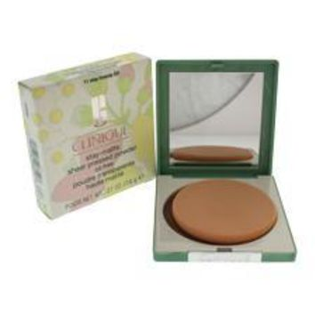 Clinique Stay-Matte Sheer Pressed Powder - # 11 Stay Brandy (D) By Clinique For Women - 0.27 Oz Powder