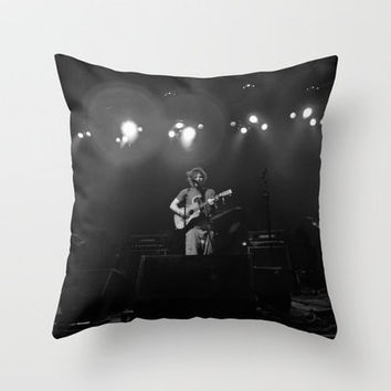 Ed Sheeran (B&W) - Live in Philly Throw Pillow by Chris Klemens | Society6