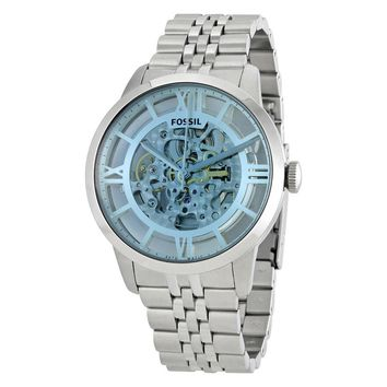 Fossil Townsman Automatic Skeleton Dial Mens Watch ME3073