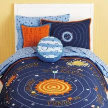 Kids' Bedding: Kids Blue Solar System Bedding