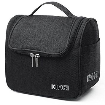 KIPOZI Hanging Travel Toiletry Cosmetic Kit Bag for Men Women Rugged, Water Resistant