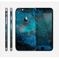 The Blue and Teal Painted Universe Skin for the Apple iPhone 6