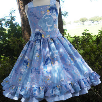 Cinderella Blue Fabric Princess Dress 2 3 4 5 6 Custom Order Disney Boutique