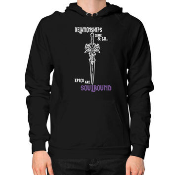 RELATIONSHIPS COME GO Hoodie (on man)