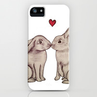 Love Bunnies iPhone & iPod Case by Kathy Lyon