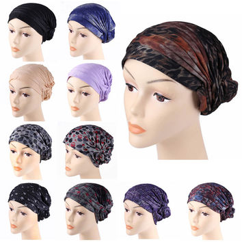 2016 muslim scarf women Free Shipping Stretchy Muslim Hats Hijab Underscarf Caps Islamic Turban Headwrap Bonnet Women Fashion