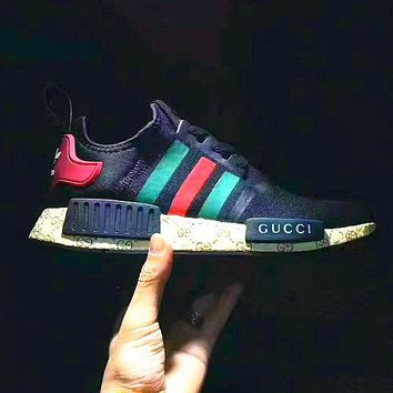 Tagre™ GUCCI Adidas NMD Fashion Women/Men Casual Running Sport Shoes (Limited edition)