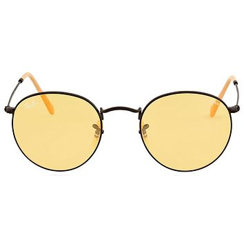 Ray Ban Round Yellow Photochromic Sunglasses RB3447 90664A 50