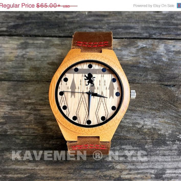 SALE Wood Watch. Mens Watch. Engrve Watch. Personalized Watch. Houston Watch.