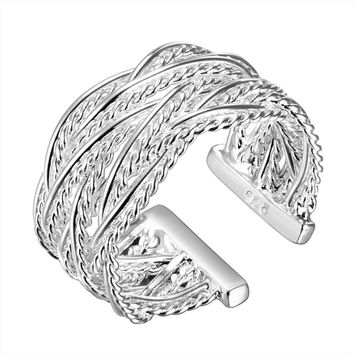 Hot Bohemia Irregular Replica Firefighter Jewelry Sexy Lady Mood Ring Female Punk Wind Big Ring Gifts For Women Silver Jewelry