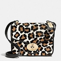 PAGE SHOULDER BAG IN PRINTED HAIRCALF
