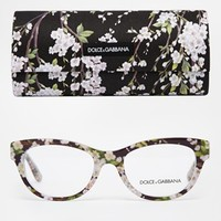 Dolce & Gabbana Floral Cat-eye Glasses