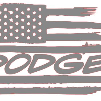 Weathered American Flag Dodge GMC Ford Chevrolet Vinyl Decal Sticker