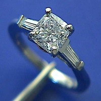 1.77ct G-SI2 Cushion Cut Diamond Engagement Ring GIA certified JEWELFORME BLUE