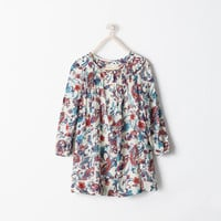 Flowy amoeba-print dress