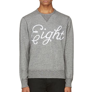 Rag And Bone Grey Eight Sweatshirt