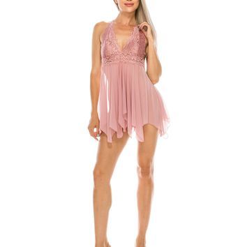 2 Piece Lace Baby Doll and Thong