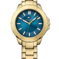 Tommy Hilfiger Women's Gold-Tone Stainless Steel Bracelet Watch 38mm 1781433