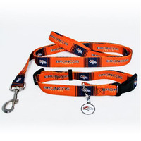 Denver Broncos NFL Dog Collar & Leash Set