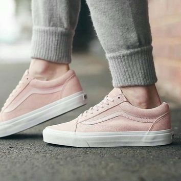 Fashion Online Vans With Warm Casual Shoes Men And Women Pink Cloth Shoes Pink I