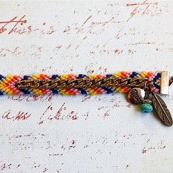 Dream Friendship Bracelet by PurpleShmurpleShoppe on Etsy