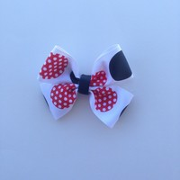 """Destinee"" Mickey Mouse themed-Hair Bow-Kid's-Toddler-Baby-Accessories from Nicole Ray Shop"