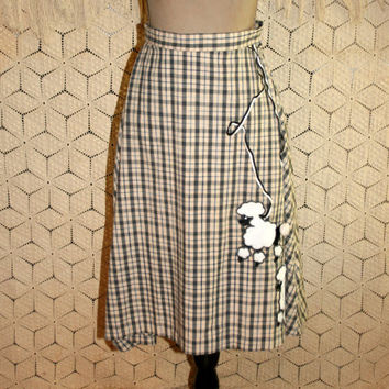 Vintage Handmade Poodle Skirt Retro 50s Halloween Costume XS 90s does 1950s Style Rockabilly Size 2 Skirt Womens Vintage Clothing