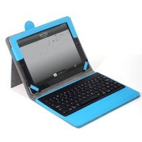 Lumsing Premium New Wireless Bluetooth Keyboard Folio PU Leather Case Cover Magnetic Smart Stand for iPad 2 New Apple iPad 3 3rd Gen (Blue)