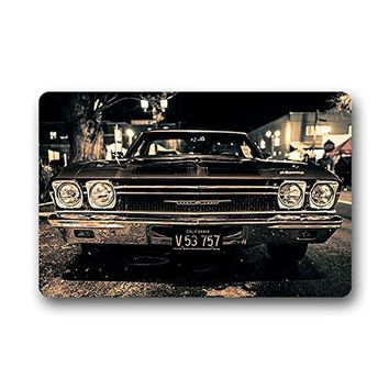 Doormat Vintage Car Retro Door Mat Door Outdoor Entrance Mat Bathroom Kitchen Decor Area Rug/Floor Mat