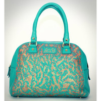 Mint Leather Bowling Satchel