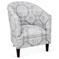 Ashlee Tub Chair, Gray/White, Accent & Occasional Chairs