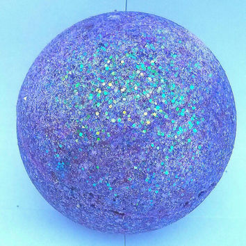 MIDNIGHT XL bath bomb, bath fizz, Lush inspired, bath ball, bubble bars, solid bubble bath, aromatherapy, gifts for her, purple, glitter