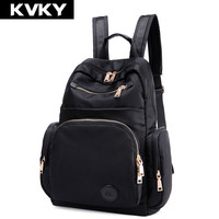 KVKY Women Waterproof nylon Backpack student book bag purse laptop bag ladies school bag for teenager Backpack Mochila Feminina