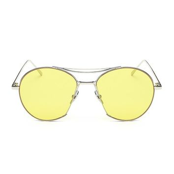Retro 70's Sunglasses | Yellow