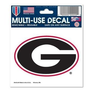 "Licensed Georgia Bulldogs Official NCAA 3"" x 5"" Automotive Car Decal 3x5 by Wincraft KO_19_1"