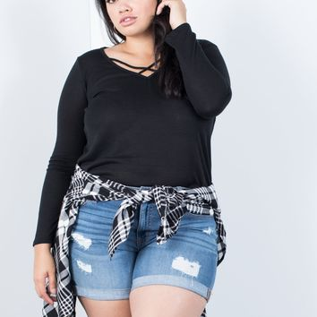 Plus Size Monica Knit Top