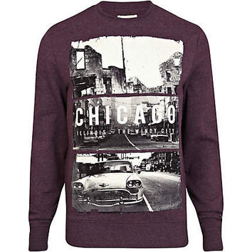 Dark red Chicago print sweatshirt - sweatshirts - hoodies / sweatshirts - men