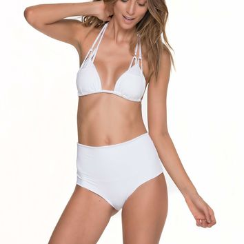 Must Fishbone White High Waist Bikini