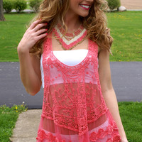Run For Summer Top: Coral