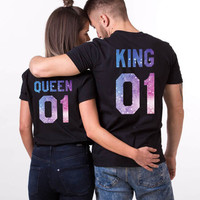 Galaxy Shirts, Galaxy King Shirt, Galaxy Queen Shirt, Galaxy Collection, Universe Shirts, Galaxy King Queen T-Shirts, Galaxy Shirts, UNISEX