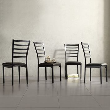 HomeVance 4-piece Stinson Dining Chair Set (Black)