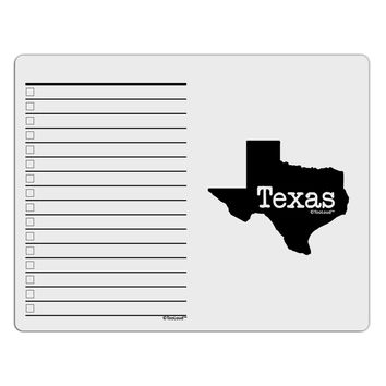 Texas - United States Shape To Do Shopping List Dry Erase Board by TooLoud