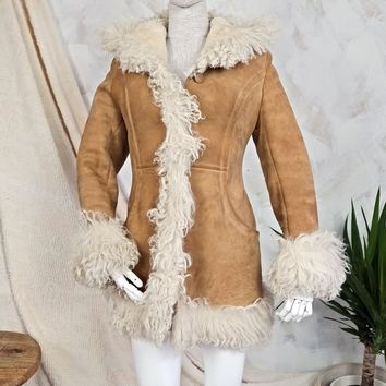 Vintage 1970s Sheepskin + Penny Lane Coat