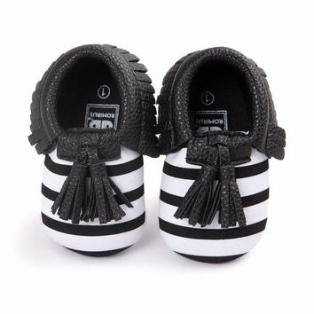 Baby Cute Shoes Toddler Infant Unisex Girls Boys Soft PU Leather Tassel Moccasins Shoe