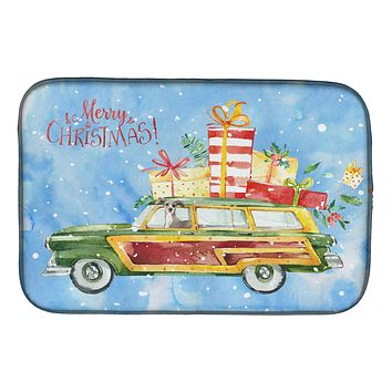 Merry Christmas Italian Greyhound Dish Drying Mat CK2458DDM